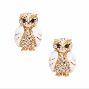 New Kate spade star bright owl stud gold earring